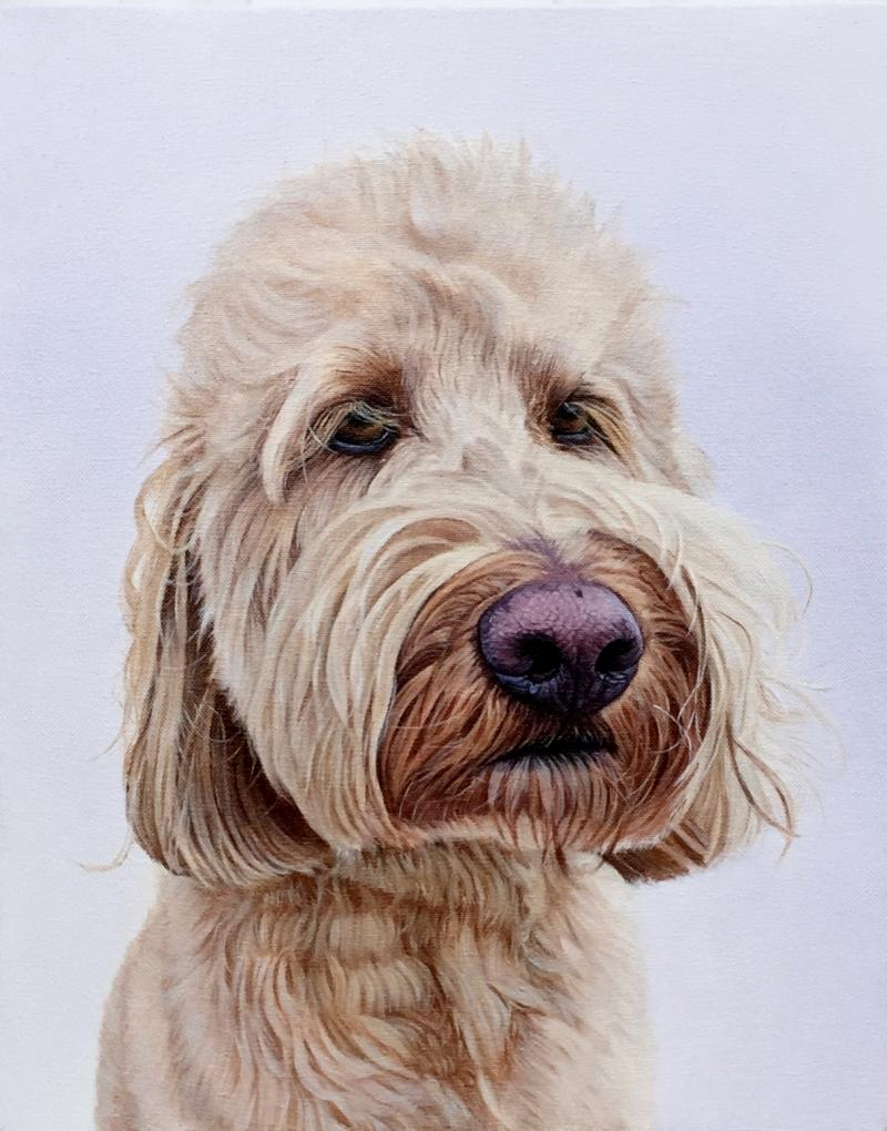 """Izzy"", 12"" x 15"", oil on canvas, Private collection"